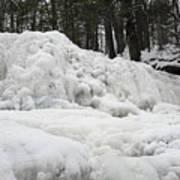 Ice Formations At Garwin Falls Poster