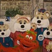 Ice Hog Family Poster