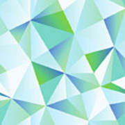 Ice Shards Abstract Geometric Angles Pattern Poster