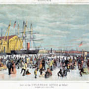 Ice Skaters, C1856 Poster