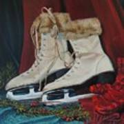 Ice Skates And Mittens Poster