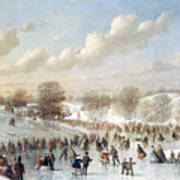 Ice Skating, 1865 Poster