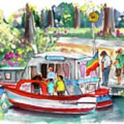 Icecream Boat In York Poster