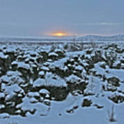 Iceland Lava Field Sunrise Mountains Clouds Iceland 2 2112018 1024jpg Poster