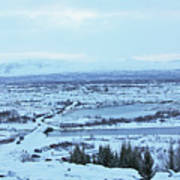 Iceland Mountains Lakes Roads Bridges Iceland 2 2112018 0945 Poster