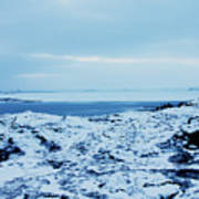 Iceland Rocks Lake Clouds Iceland 2 2112018 0935 Poster