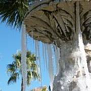 Icicles In A Palm Filled Sky Number 1 Poster