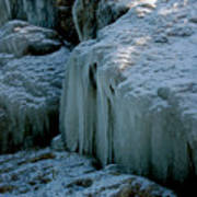 Icicles On The Rocks Poster