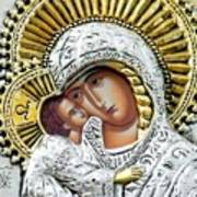 Icon Of The Bl Virgin Mary W Christ Child Poster by Jake Hartz