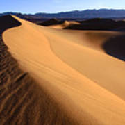Iconic Dunes At Death Valley Poster