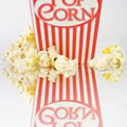 Iconic Striped Popcorn Carton Poster