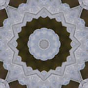 Icy Lace Kaleidoscope Poster