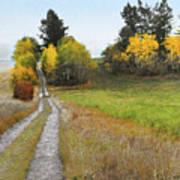 Idaho Backroad Autumn Poster