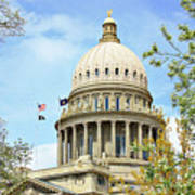 Idaho State Capitol In The Spring Poster