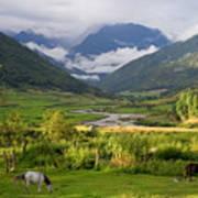 Idyllic Landscape Arunachal Pradesh Poster