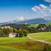 Idyllic Landscape In The Alps, Appenzellerland, Switzerland Poster