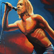 Iggy Pop Painting Poster