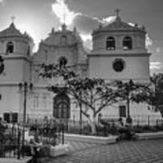 Iglesia Ciudad Vieja - Guatemala Bnw Poster