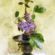 Ikebana Lilacs Poster