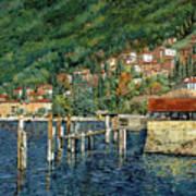 il porto di Bellano Poster by Guido Borelli