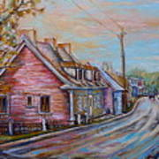 Iles D'orleans Quebec Village Scene Poster