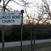 Illinois Bend Church Sign Poster