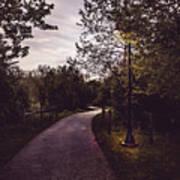 Illuminated Foot Path Poster