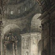 Illumination Of The Cross In St. Peter's On Good Friday, 1787 Poster