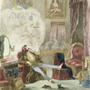 Illustration From Visitation Of A London Exquisite To His Maiden Aunts In The Country Poster