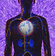 Illustration Of Computer Enhanced Human Poster