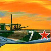 Ilyushin II 2m3 Russian Ground Attack Aircraft Poster