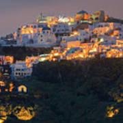 Imerovigli After Sunset, Santorini Poster