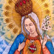 Immaculate Heart Of Virgin Mary Poster