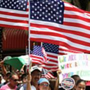 Immigrant Marcher In Orlando Poster