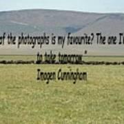 Imogen Cunningham Quote Poster