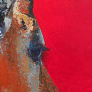 Impala On Crimson Close-up Poster