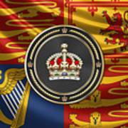 Imperial Tudor Crown Over Royal Standard Of The United Kingdom Poster