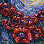 Impressionist Field Poppies Poster