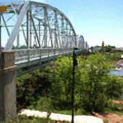 Impressionistic Llano Bridge Poster
