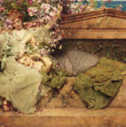In A Rose Garden Poster by Sir Lawrence Alma-Tadema
