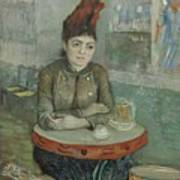 In The Cafe  Agostina Segatori In Le Tambourin Paris January  March 1887 Vincent Van Gogh 1853  Poster
