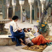 In The Courtyard Of The Harem Poster