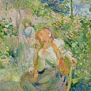 In The Garden At Roche Plate Poster by Berthe Morisot