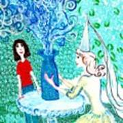 In The White Lady's Cave Poster by Sushila Burgess