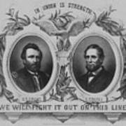 In Union Is Strength - Ulysses S. Grant And Schuyler Colfax Poster
