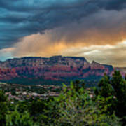 Incoming Storm Over Sedona Poster