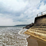 Incoming Tide - Charmouth Poster