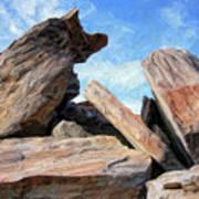 Indian Canyon Rocks Poster