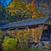 Indian Creek Covered Bridge In Fall Poster