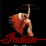 Indian Motorcycle Company Pinline Poster